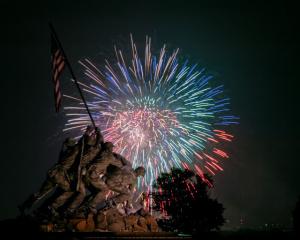FireworksIowaJimaMonument
